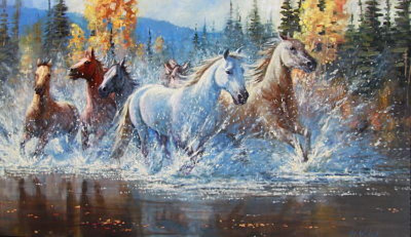 quotwild horses running freequot originals recently sold